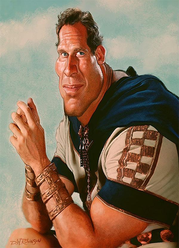Caricatura de Charlton Heston