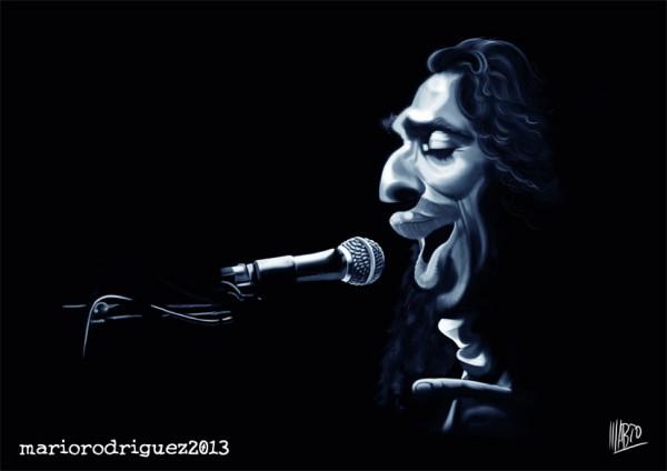 Caricatura de Diego el Cigala