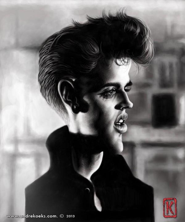 Caricatura de Elvis Presley