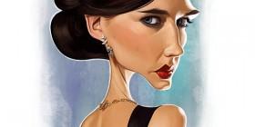 Caricatura de Eva Green