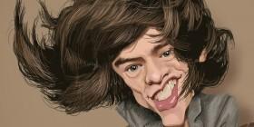 Caricatura de Harry Styles