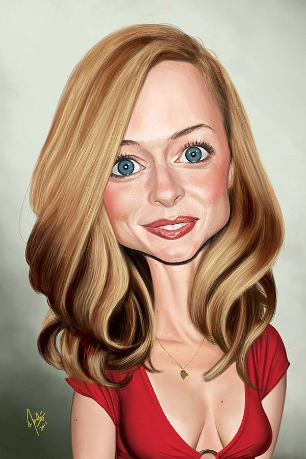 Caricatura de Heather Graham