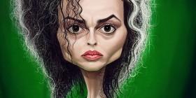 Caricatura de Helena Bonham Carter