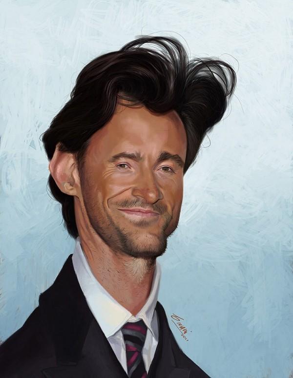 Caricatura de Hugh Jackman