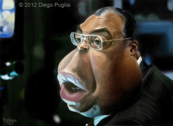 Caricatura de James Earl Jones
