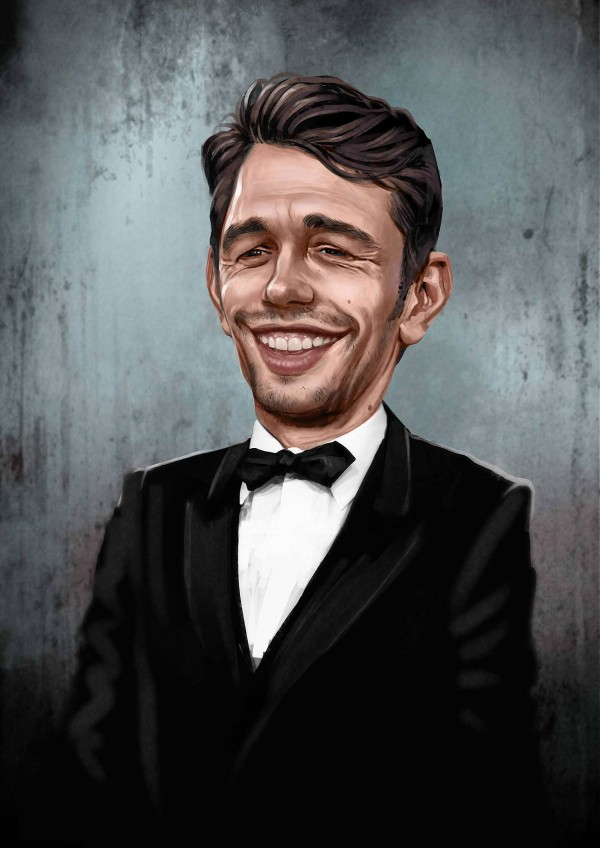 Caricatura de James Franco
