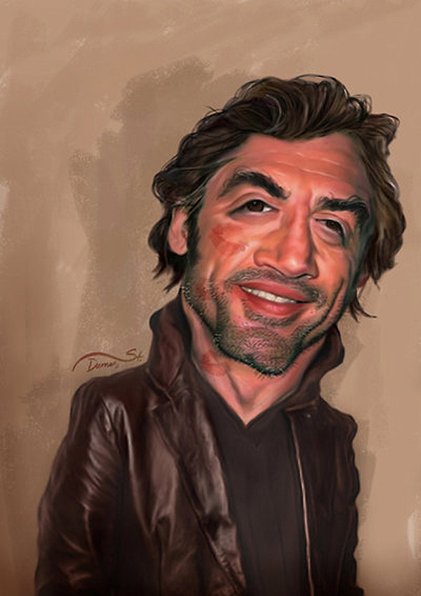 Caricatura de Javier Bardem