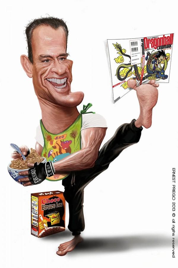 Caricatura de Jean-Claude Van Damme