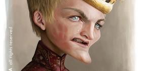 Caricatura de Joffrey Baratheon