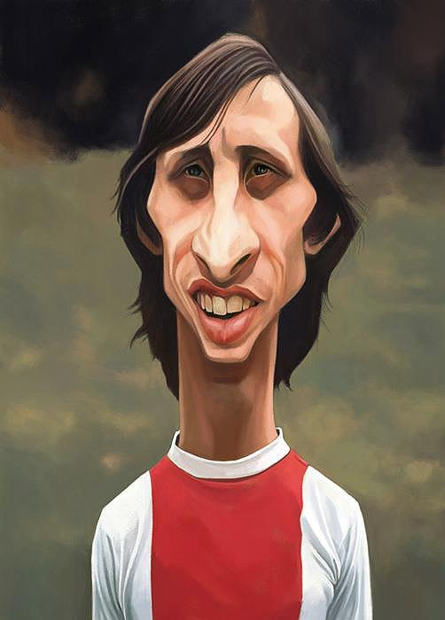 Caricatura de Johan Cruyff