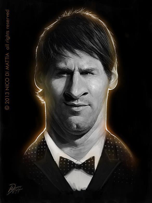 Caricatura de Leo Messi