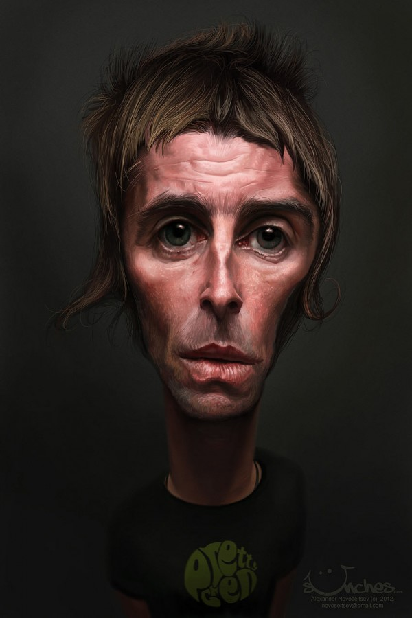 Caricatura de Liam Gallagher de Oasis