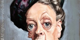 Caricatura de Maggie Smith