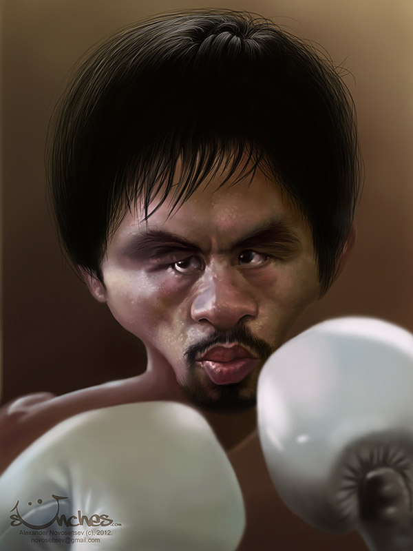 Caricatura de Manny Pacquiao
