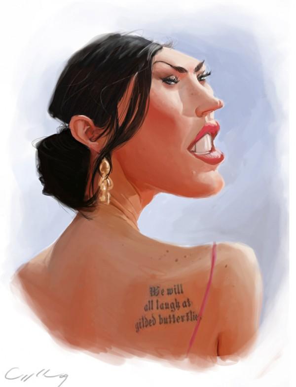 Caricatura de Megan Fox
