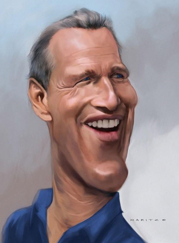 Caricatura de Paul Newman