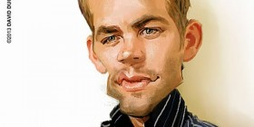 Caricatura de Paul Walker