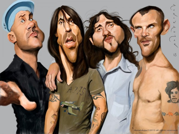 Caricatura de Red Hot Chili Peppers