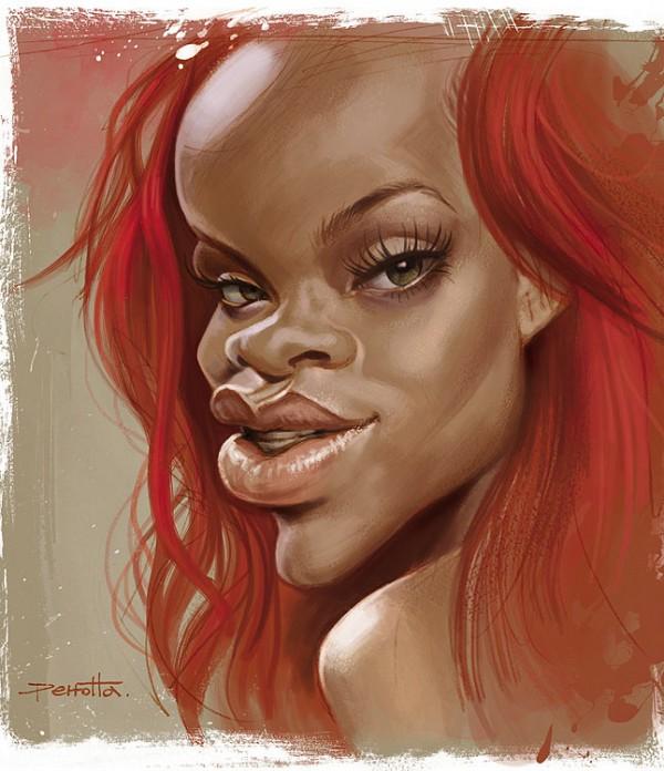 Caricatura de Rihanna