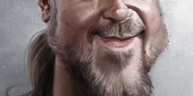 Caricatura de Russell Crowe