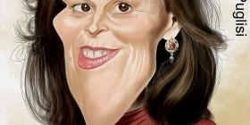 Caricatura de Sigourney Weaver