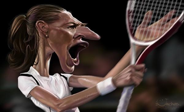 Caricatura de Steffi Graf
