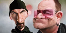 Caricatura de U2