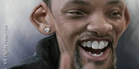 Caricatura de Will Smith