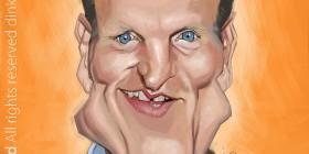 Caricatura de Woody Harrelson