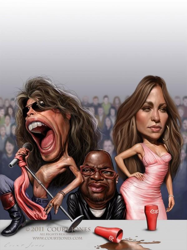 Caricatura del Jurado de American Idol 2011
