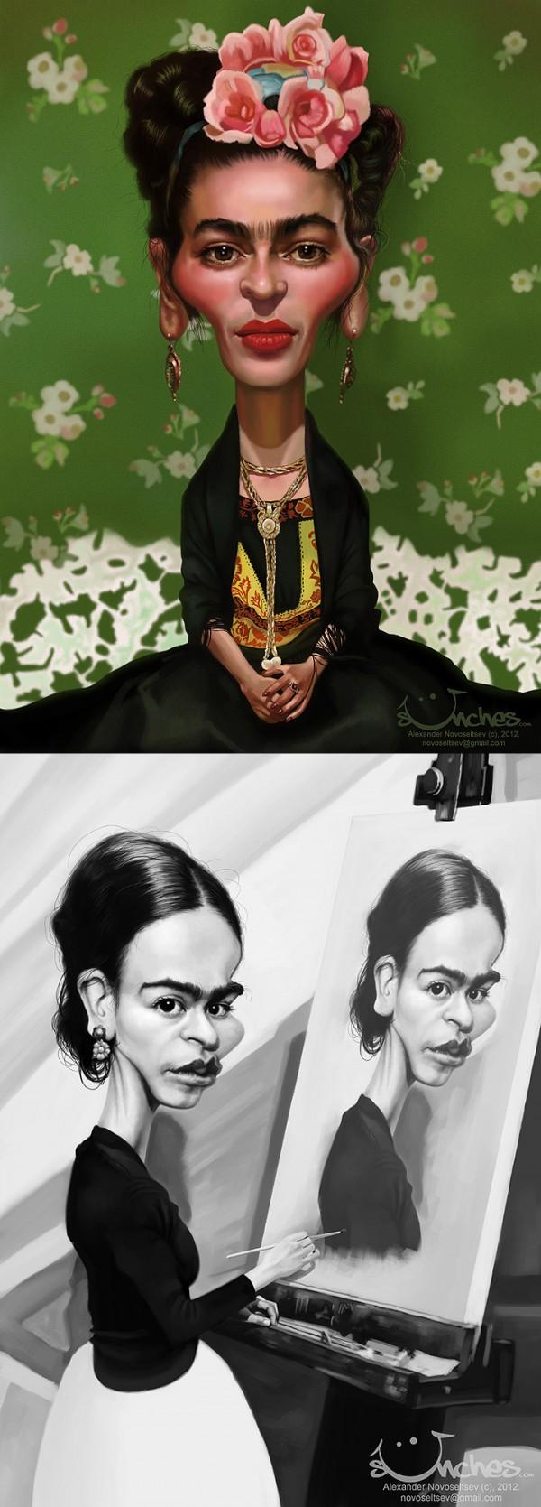 Caricaturas de Frida Kahlo