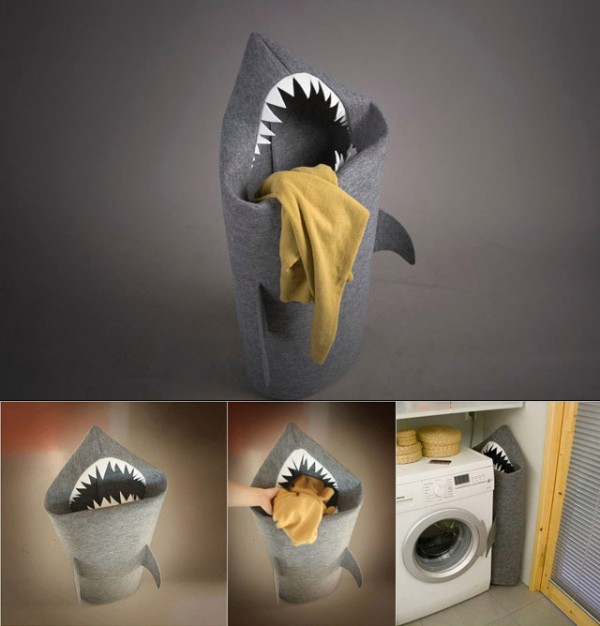 Cesta-tiburón para la ropa sucia