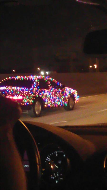 Coche árbol de navidad