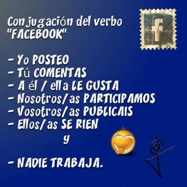 Conjugación del verbo Facebook