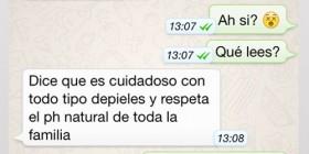 Conversaciones de WhatsApp, en el baño