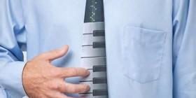Corbata teclado piano musical