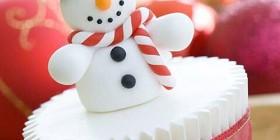 Cupcake muñeco de nieve