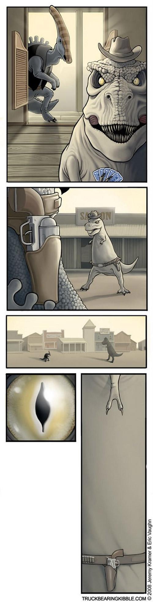Duelo entre dinosaurios