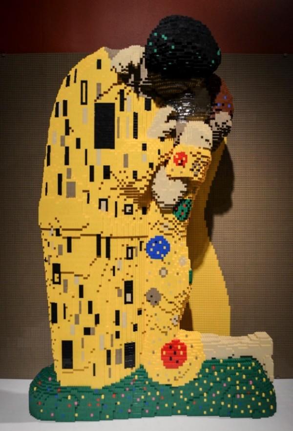 El beso de Klimt de LEGO