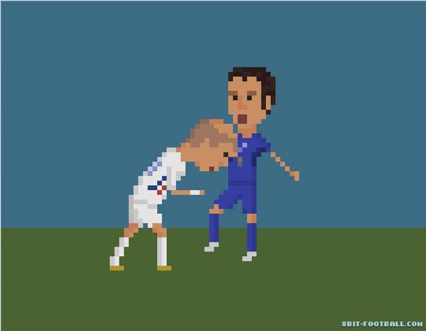 El cabezazo de Zidane en 8 bits