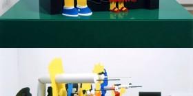 Escultura con perspectiva: Los Simpson