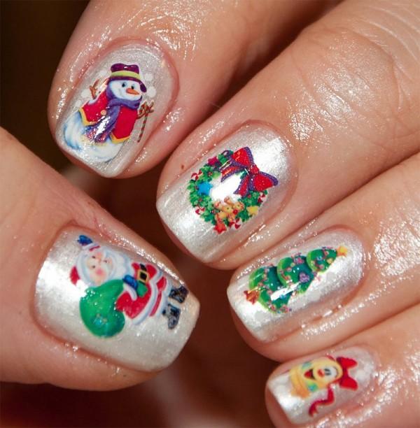 Esmalte de uñas navideño