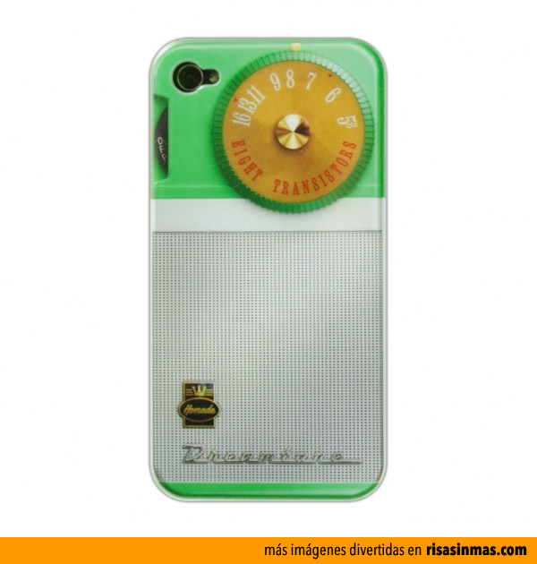 Funda para iphone 4 transistor retro