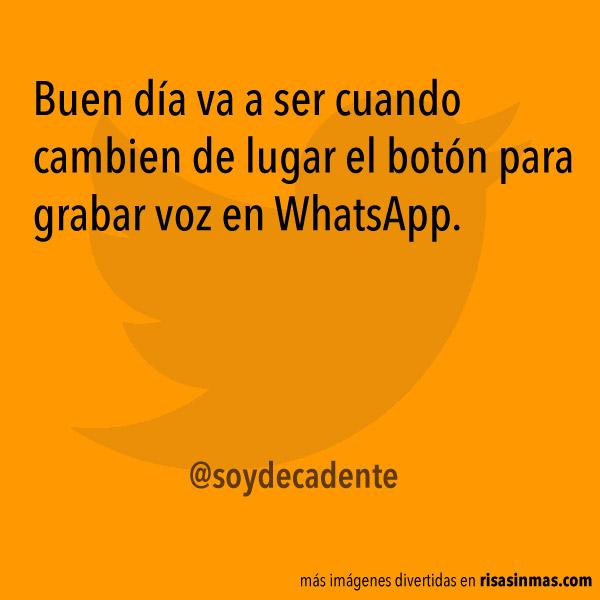 Grabar voz en WhatsApp