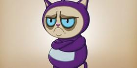 Grumpy cat teletubbie