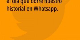 Historial de WhatsApp