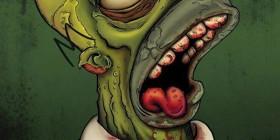 Homer Simpson zombie