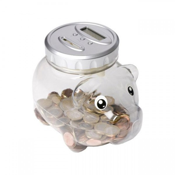 Hucha cerdito cuenta monedas