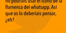 Icono de la flamenca del WhatsApp