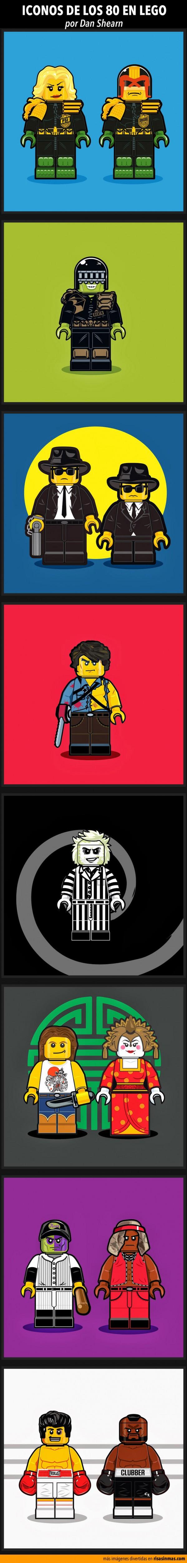 Iconos de los 80 en LEGO